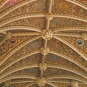 The beautifully vaulted ceiling of the nave